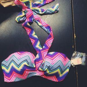 NWT Victoria Secret patterned bikini top